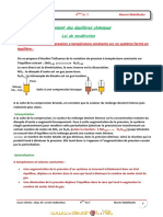 Cours - Chimie Loi de Modération Chap 3 Déplacement Des Équilibres Chimiques - Bac Mathématiques (2010-2011) Mr Akermi Abdelkader