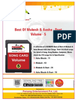 Volume 5 Best of Mukesh Asha Bhosle With Duet Song