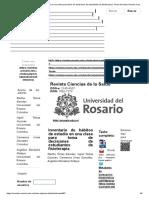 Revista Ciencias de La Salud