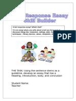 Text Response Essay Skill Builder