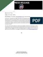 Ogden Police Press Release - Man dies after fight
