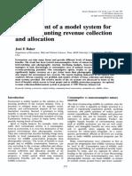 Development of a Model System for Touristic Hunting Revenu 1997 Tourism Mana