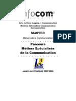 guide Master MSC 07 08 lille3