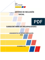 LINEAMIENTOS MICROPLANFICACIÃ_?N 2016 DISCAPACIDADES-11-01-2016