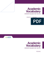 academic vocab elar gr 08