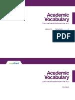 academic vocab elar gr 06