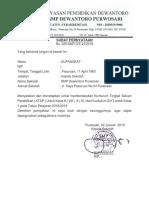 Surat Pernyataan Pemberlakuan Kurikulum 2018-2019