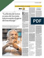 El Comercio (Lima-Peru) Lun 4 Feb 2019 (Pag A21) Pagina Toros