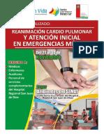 Contenido Curso Reanimación Cardiopulmonar y Atención Inicial en Emergencias Médicas
