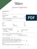 Employment Application 2013