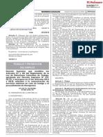 Decreto Supremo Que Modifica Los Articulos 67 y 68 Del Regla Decreto Supremo n 009 2018 Tr 1692074 2