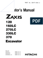 Hitachi Zaxis 270LC Excavator operator's manual SN 020035 and up.pdf