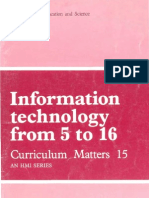 Information Technology from 5 to 16 - Curriculum Matters 15 - An HMI Series