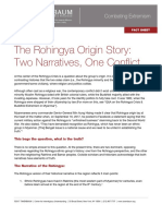 The Rohingya Origin Story __Two Narratives, One Conflict