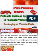 Tomato Paste Packaging Industry