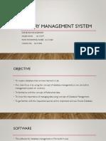 Library Management System DATABASE