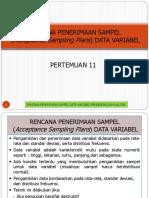 Pengendalian Kualitas - Rencana Penerimaan Sampel Data Variabel Bagian 1