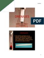DRENAJES (tipos, complicaciones)