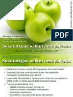 Luento Sukututkijan Valitut Nettipalvelut 2010 Mykra Hki