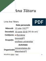 Livia Ana Tătaru - Wikipedia