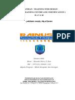 Laporan Pelatihan Web Design_rainusa