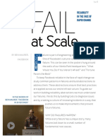 2015 Fail at Scale Reliability in the Face of Rapid Change