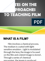 Notes on the Approaches to Teaching Film