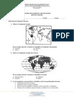 Prueba Diagnostica de Quinto de Sociales