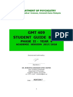 GMT 409 Psychiatry Student Guide Book