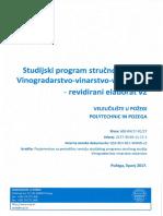 Revidirani Elaborat Studijskog Programa Preddiplomskog Stručnog Studija Vinogradarstvo-Vinarstvo-Voćarstvo Veleučilišta u Požegi Finall