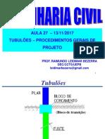 Aula 27-13-11-2017 Tubulões Proc Gerais de Projeto