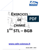 Exercices de chimie 1 ère