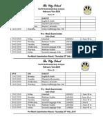 o level  class 10  date sheet for pre mock 2019