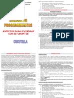 Folleto Socialización Procedimientos Corregido 2018. Estudiantes.