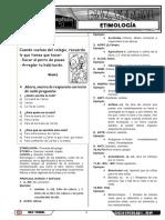 Razonamiento Verbal Etimología Primer Grado Final