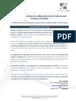 Comunicado EAPN-ES Carta Social Europea