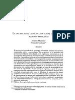 8_La Docencia en La Psicologia Social Comunitaria_Psicologia Desde El Caribe