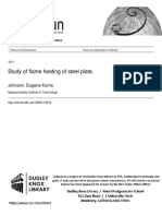 Study of flame heating of steel plate