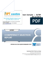 Competency Selection Report
