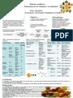 Metodos Analiticos Para La Determinacion de VIt C en Alimentos