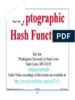 11. Cryptographic Hash Function