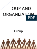 Group and Organization