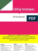 unit 21- editing techniques