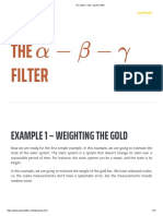 The Alpha - Beta - Gamma Filter