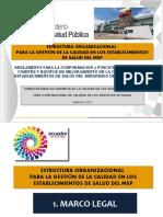 Estructura Organizacional para la Gestión de la Calidad MSP-Hospitales 2019