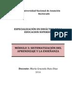 Modulo 3 Sistematizacion Del Aprendizaje y de La Enseñanza