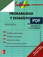 Estadistica y Probabilidad - Teoría y Problemas de Probabilidad y Estadística
