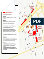 2019 Fed Cup street, parking lots closure map