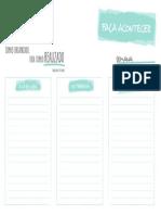 Tabela Organizadora de Pendencias