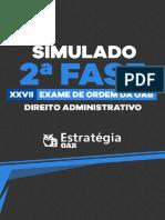 Caderno de Provas Administrativo Final
